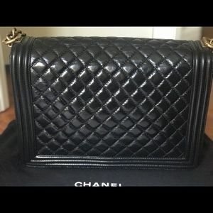 CHANEL Bags - SOLD!!! Chanel Large Boy bag with GHW